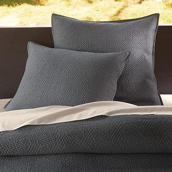 organic matelasse duvet cover + shams, west elm