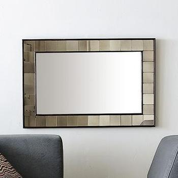 Mirrors - antique tiled mirror | west elm - mirror