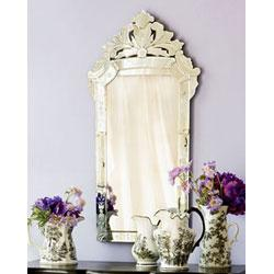 Mirrors - Venetian Glass Mirror-Wisteria - Venetian Glass Mirror