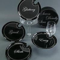 Decor/Accessories - Seven Deadly Sins Mingling Plates - plates