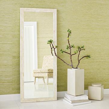 tiled bone floor mirror west elm. Black Bedroom Furniture Sets. Home Design Ideas