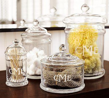 pb classic glass canister pottery barn
