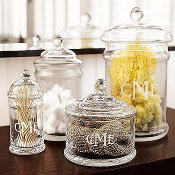 Bath - PB Classic Glass Canister | Pottery Barn - glass canisters