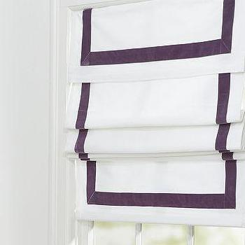 Window Treatments - Velvet Ribbon Roman Shade | Pottery Barn - roman shades