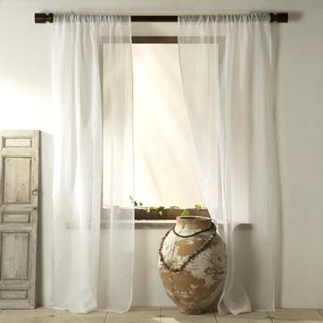Sheer linen window panel west elm for West elm window treatments