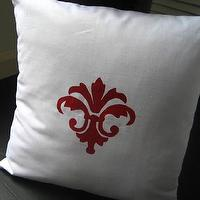 Pillows - Etsy :: WhiteTwig :: White Twig Modern Fleur Linen Pillow - pillow