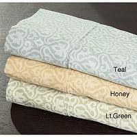 Bedding - Kristie Medallion Cotton Sheet Set from Overstock.com - bedding, sheets