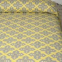 Bedding - UrbanOutfitters.com > Russian Cross Tapestry - Yellow and Gray