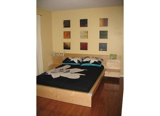 view full size · bedrooms - Ikea Malm Horchow abstract art Target bedding