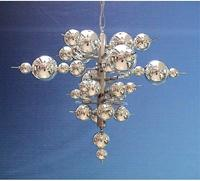 Lighting - Meyda Tiffany 37572 Mirrored Ball 12 Light Pendant - Lighting by Lux - silver ball pendant