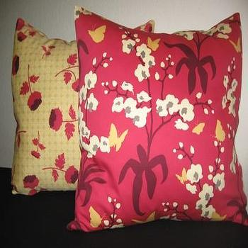 Etsy :: nenavon :: Pair of Decorative Designer Pillow Covers-Ginseng Cherry Blossoms-16 inch