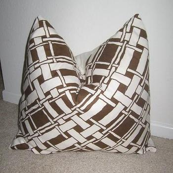 Pillows - Etsy :: nenavon :: Decorative Designer Pillow Cover - brown and white throw pillow