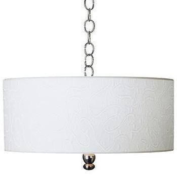 Lighting - White Clouds lamp - Pendant & Hanging Lamps - Seascape Lamps - pendant light drum shade , chain hung