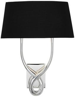wall sconce with black shade