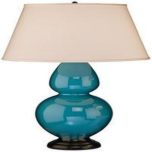 Lighting - table lamp - peacock blue table lamp