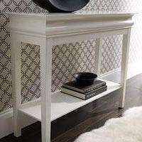 Tables - console - white laquer console