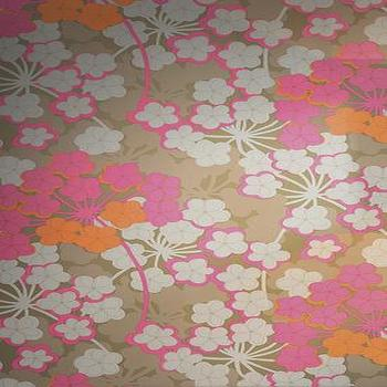 Wallpaper - HOTHOUSE BY SUZY HOODLESS Rosabella Wallpapers From Osborne and Little - wallpaper, floral, pink