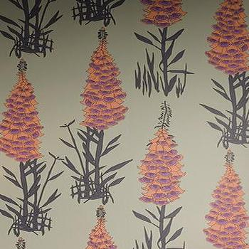 Wallpaper - HOTHOUSE BY SUZY HOODLESS Foxglove Wallpapers From Osborne and Little - wallpaper, floral