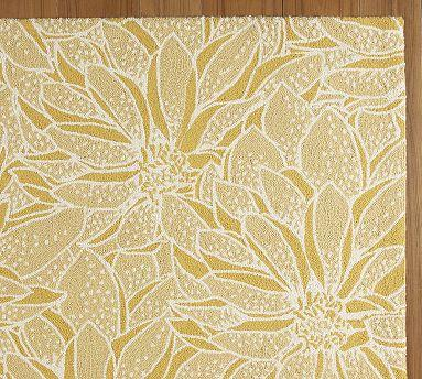 Daisy Hooked Rug Yellow Pottery Barn