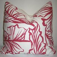 Pillows - Etsy :: nenavon :: Decorative Designer Pillow Cover-Lee Jofa Fabric - pilow, pink, leaf pattern