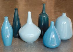 Decor/Accessories - 250VABLUE Ice Pop Blue Ceramic Vases - vases