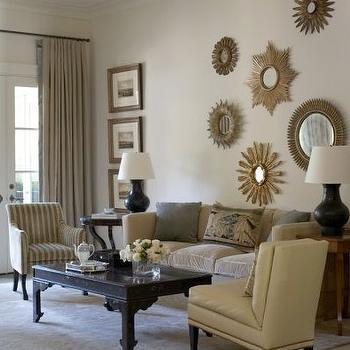 Sunburst Wall Decor, Traditional, living room