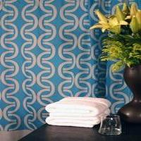 Bath - Links Shower Curtain by Plush Living - blue, shower curtain