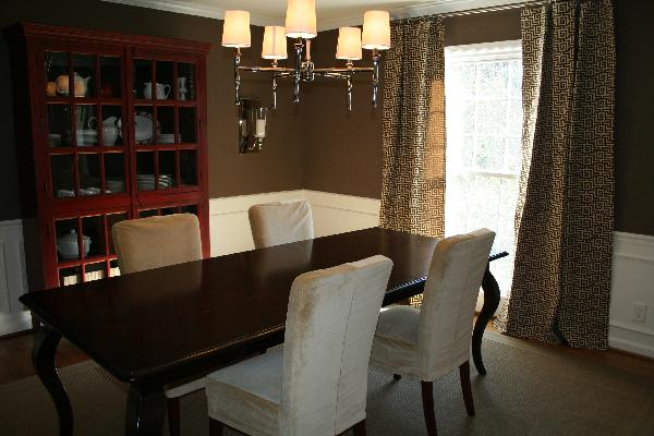 dining room - Benjamin Moore Whitall Brown