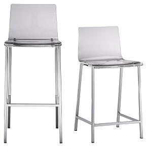 Seating - Clear stools - CB2 - Barstools, acrylic, CB2