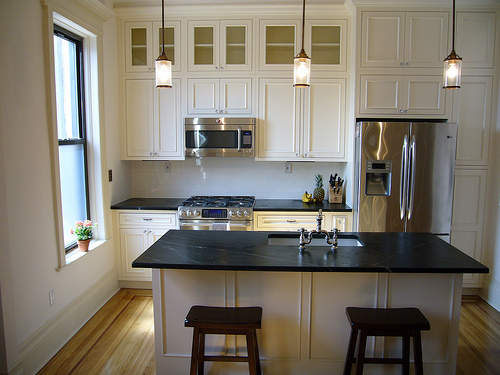 Brooklyn Limestone - kitchens - Benjamin Moore - Woodland Snow - Soapstone, Soapstone, White Kitchen, Inset Cabinetry, soapstone countertops, soapstone island, soapstone kitchen island,