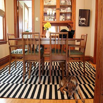 Making it Lovely - dining rooms - ikea rug, stockholm rug, ikea stockholm rug, black and white rug, striped rug, black and white striped rug, Ikea Stockholm Rand Rug,