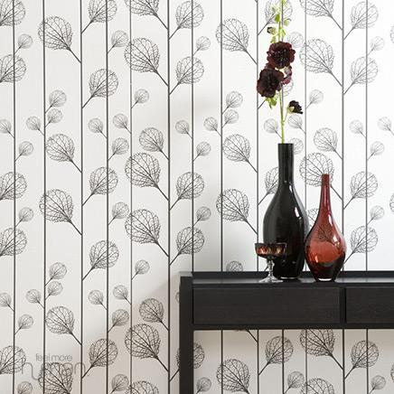 Wallpaper - Ferm Living - Ribbed Wallpaper - Wallpaper - Living Green &amp; Modern - wallpaper
