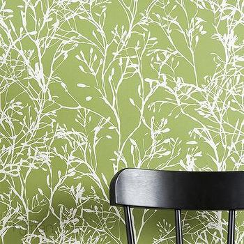 Ferm Living, Wildflower Wallpaper, Wallpaper, Living Green & Modern