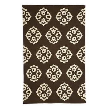 Rugs - andalusia rug | west elm - brown & white medallion rug, west elm