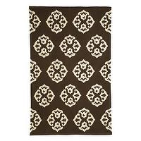Rugs - andalusia rug | west elm - brown &amp; white medallion rug, west elm