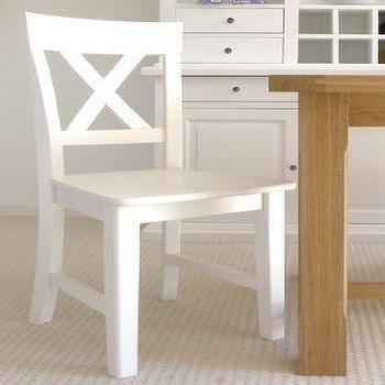 Tables - Birch table with white chairs - White chair, Birch table