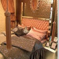 miscellaneous - Bedroom, mirrored, poster, bed, pink, silk, bedding,  Brillant Home Bed