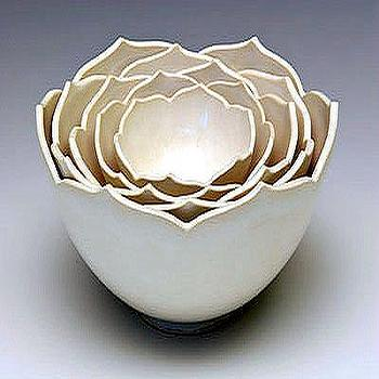 Decor/Accessories - whitney smith: ceramic artist - nesting bowls, lotus