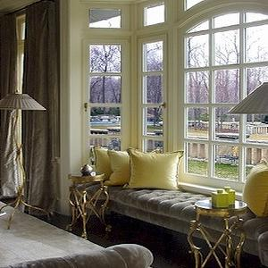 Yellow and Gray Room, Contemporary, living room