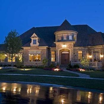home exteriors - Spencer Hill Estate, Homes, Chateau Torelle, french chateau,  via Hooked on Houses  home exterior