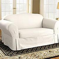 Seating - white sofa slipcover - sofa slipcover