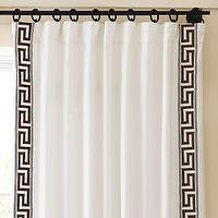 Window Treatments - Key Embroidered Drape | Pottery Barn - drapes
