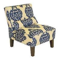 Seating - Abstract Print Upholstered Chair - Blue : Target - chair