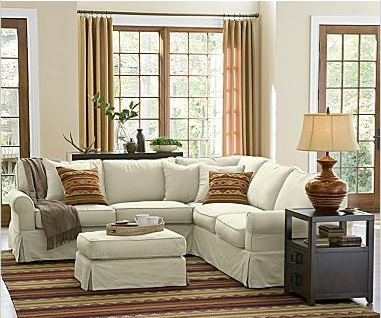 Slipcovered Sectional Look 4 Less!