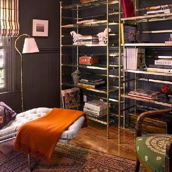 Orange Cashmere Throw, Eclectic, living room, Kristen Buckingham Interior Design