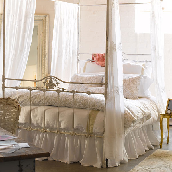 Sheer Canopy Bed Drape | Pottery Barn - Home Furnishings, Home