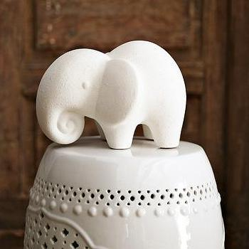 Decor/Accessories - ceramic elephant| west elm - west elm, white, ceramic, elephant