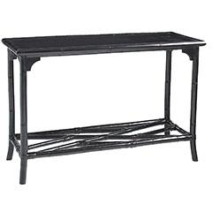 Tables - pier 1 bamboo console table - black, bamboo, console table, pier 1, chippendale