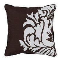 Pillows - Home Damask Dec Pillow - Chocolate (18 - Chocolate, Damask, Pillow, Tarket