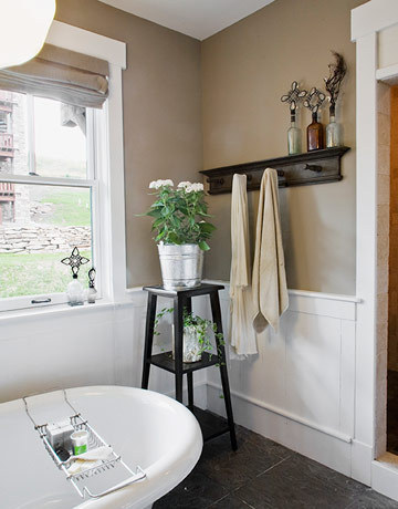 Taupe Bathroom - Cottage - bathroom - Apartment Therapy